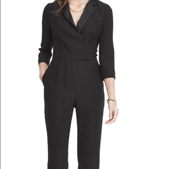 51e6b5d2c9a Banana Republic Pants - Banana Republic Black Tuxedo Jumpsuit